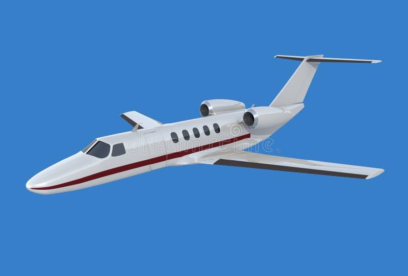 Avion à réaction privé de la citation cj4 de Cessna illustration de vecteur