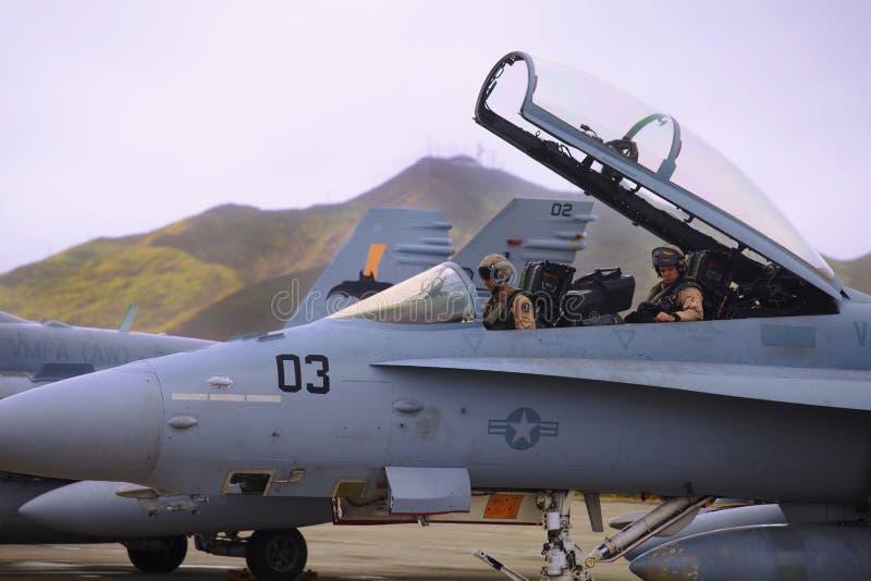 Avion à réaction XFA-18 des corps des marines des États-Unis photo libre de droits