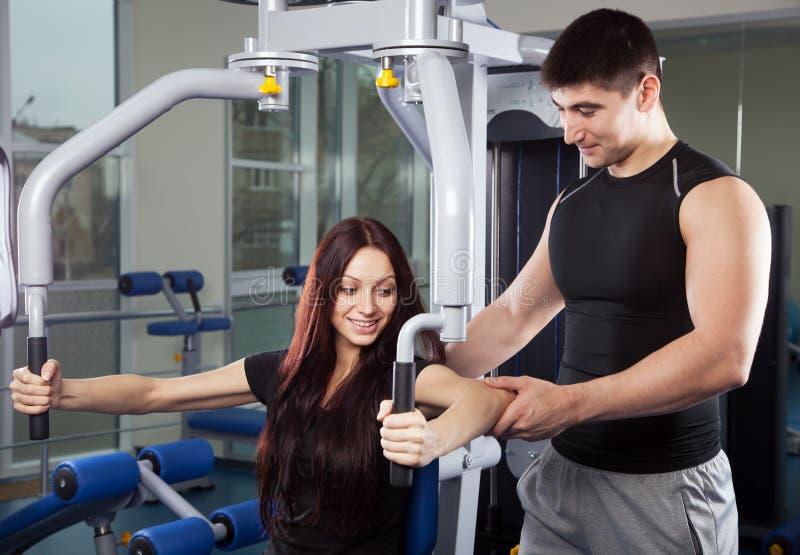 Avion-école à un centre de fitness photo stock