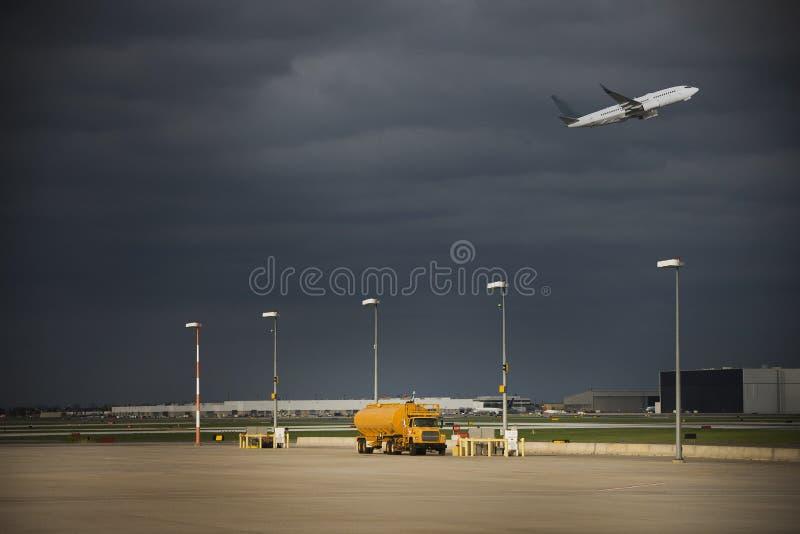 Avion/aéroport photo stock