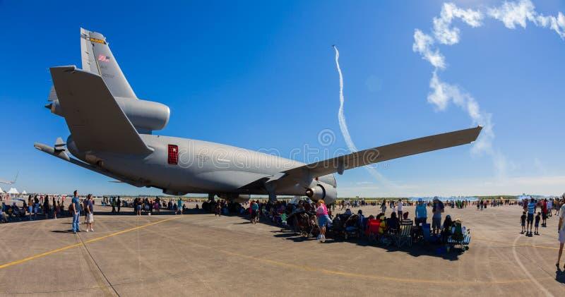 Avion américain d'avion à réaction de l'unité d'extension KC-10 photographie stock libre de droits