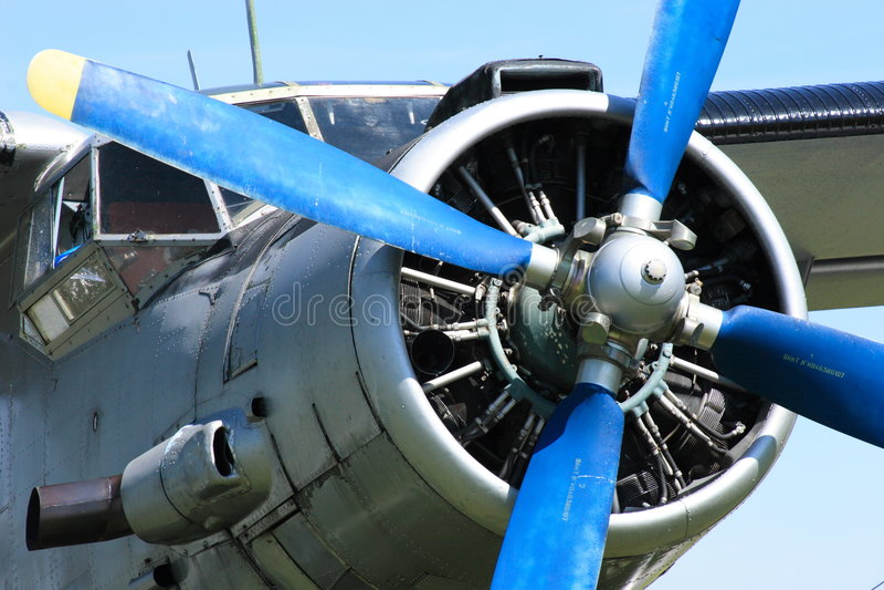 Avion Antonov 2 images libres de droits