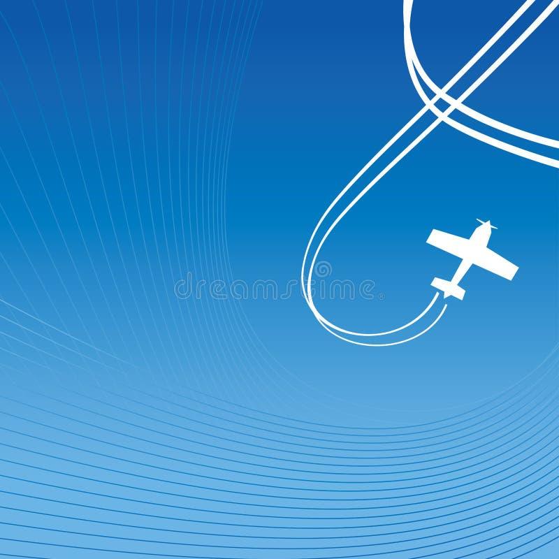 Avion au-dessus de bleu illustration de vecteur