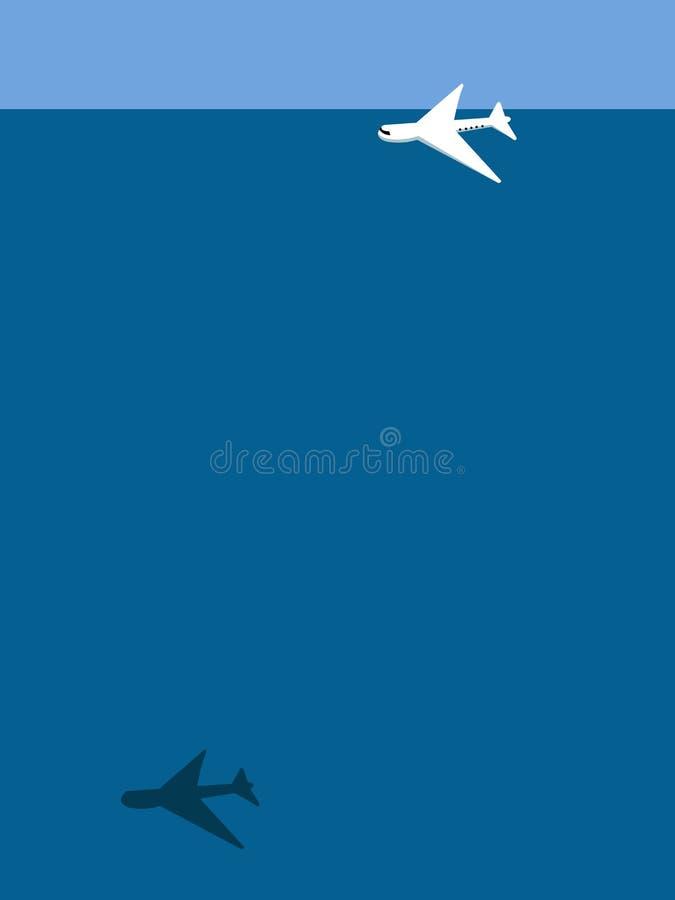 Avion au-dessus de l'oc?an illustration libre de droits