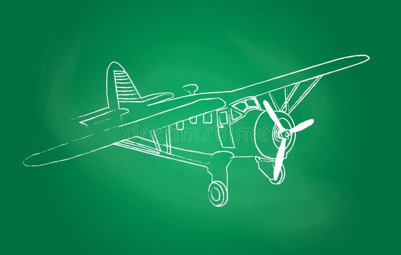 Avion au-dessus de tableau illustration stock