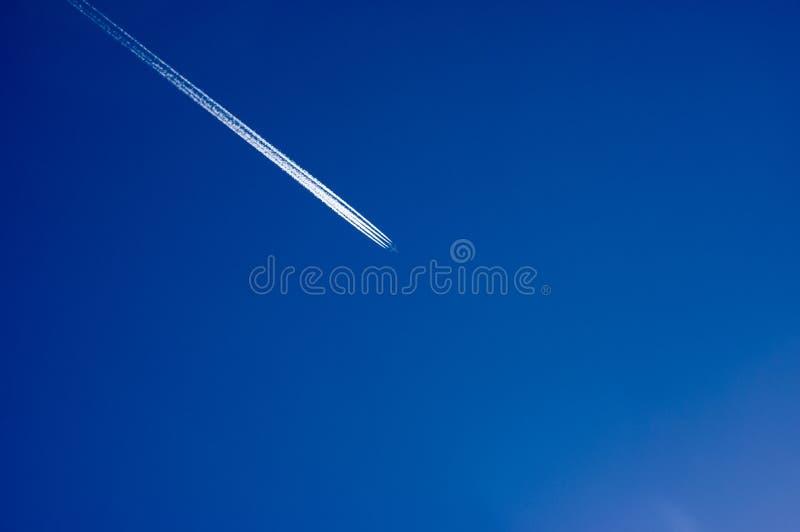 Avion avec la trace images libres de droits