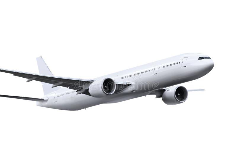 Avion avec le chemin photos libres de droits