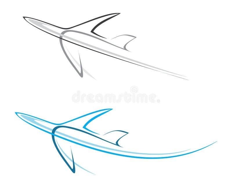 Avion, avion de ligne illustration stock