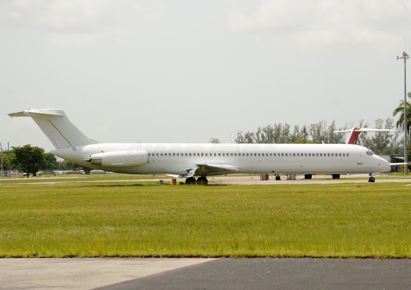 Avion blanc image stock