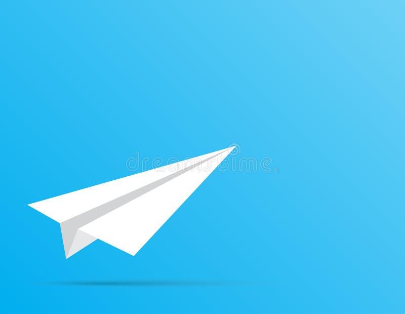Avion blanc de papier Le début de la manière image libre de droits