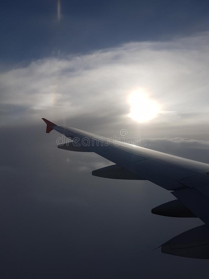 avion cielo royalty-vrije stock afbeeldingen