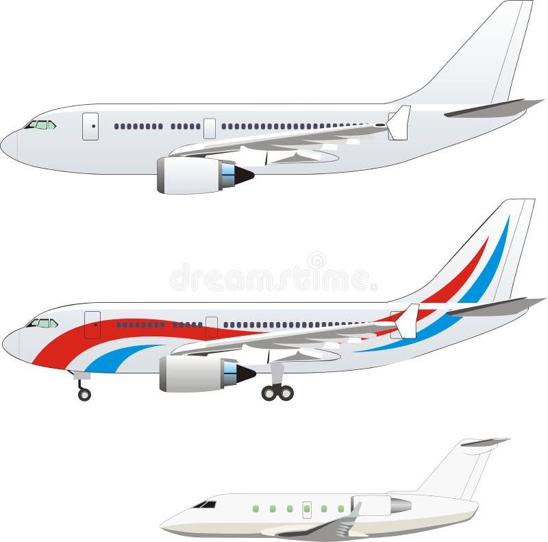 Avion civil illustration de vecteur