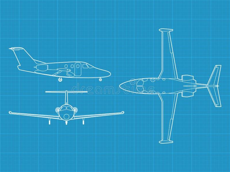 Avion civil moderne illustration stock