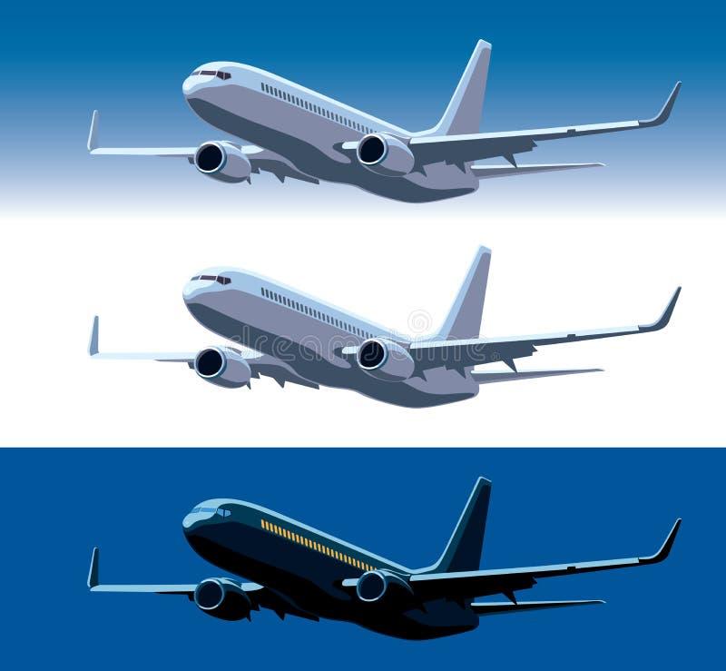 Avion commercial illustration de vecteur