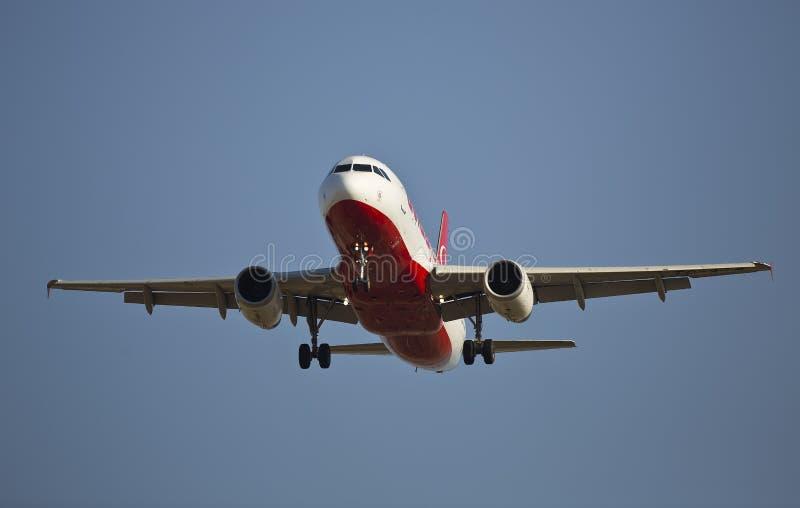 Avion commercial image libre de droits