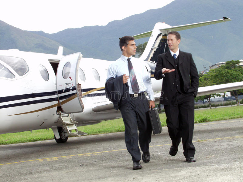 Avion d'affaires. photo libre de droits