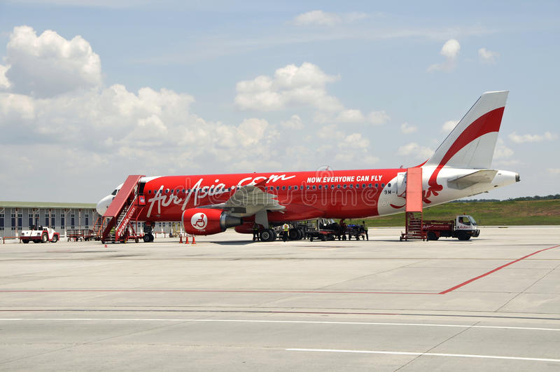 Avion d'Air Asia images stock