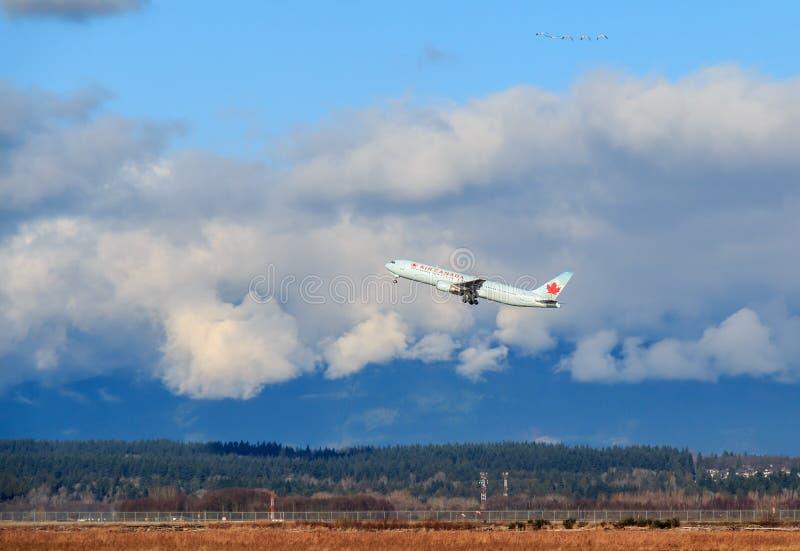 Avion d'Air Canada photographie stock libre de droits