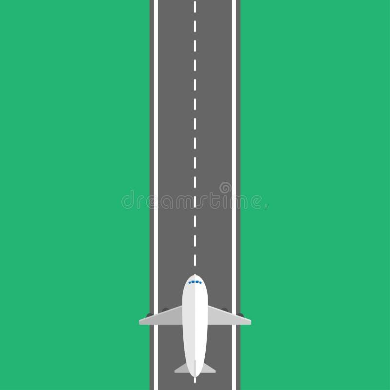 Avion d'air dans la conception plate avec le fond illustration stock