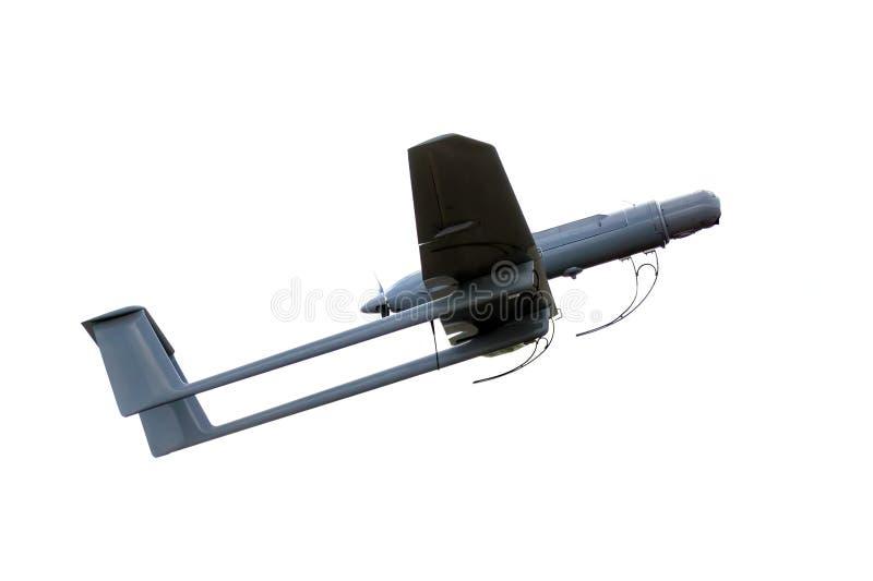 Avion d'armée d'UAV d'isolement photos stock