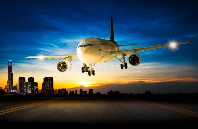 Avion d'atterrissage photo libre de droits