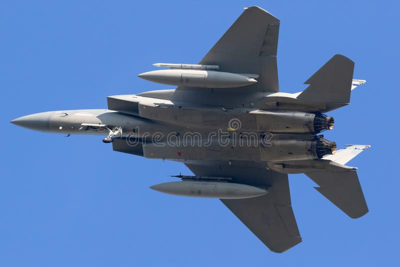 Avion d'avion de chasse de l'Armée de l'Air des Etats-Unis F-15C Eagle photos libres de droits