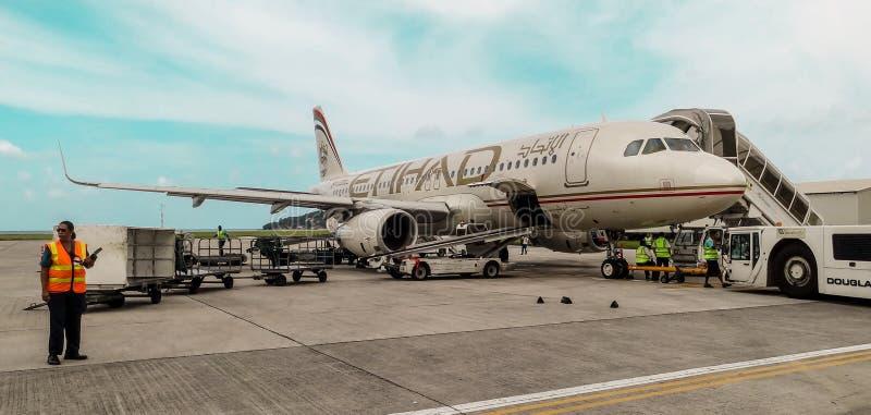 Avion d'Etihad images libres de droits