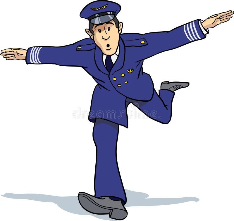 Avion d'imitation de pilote d'air illustration de vecteur