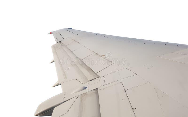 Avion d'isolement d'aile photographie stock