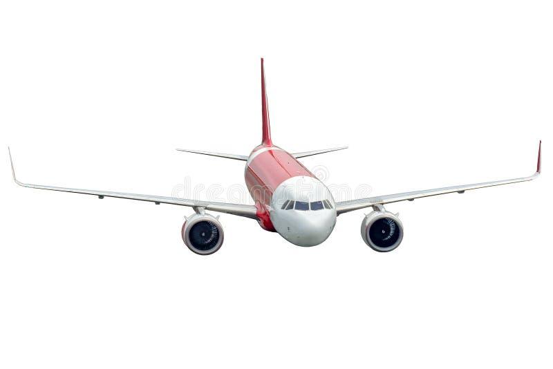 Avion d'isolement sur le fond blanc, vue de face image libre de droits