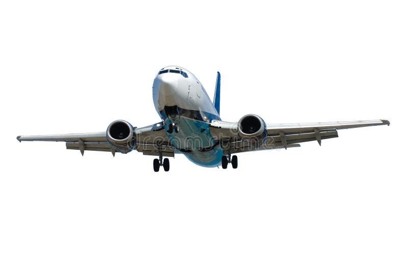 Avion d'isolement sur un fond blanc images stock