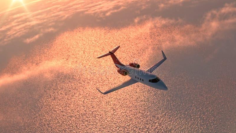 Avion dans le ciel illustration de vecteur