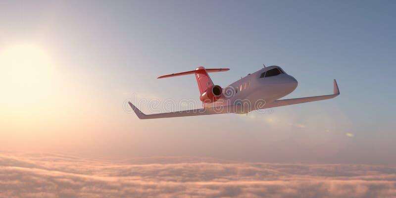 Avion dans le ciel illustration stock
