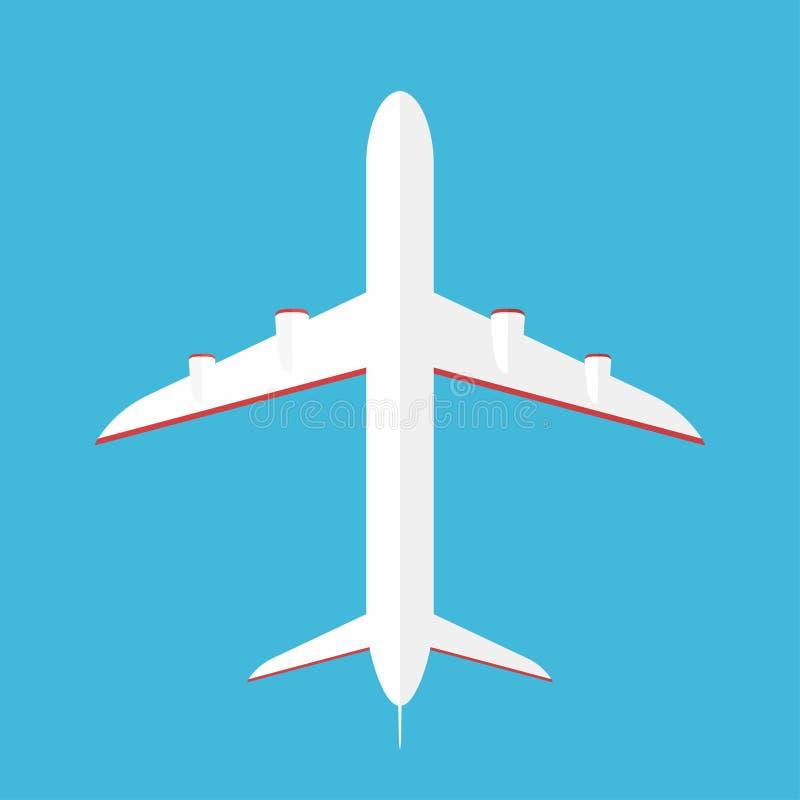 Avion dans le ciel Avion commercial dans la vue inférieure, vue de dessous illustration libre de droits