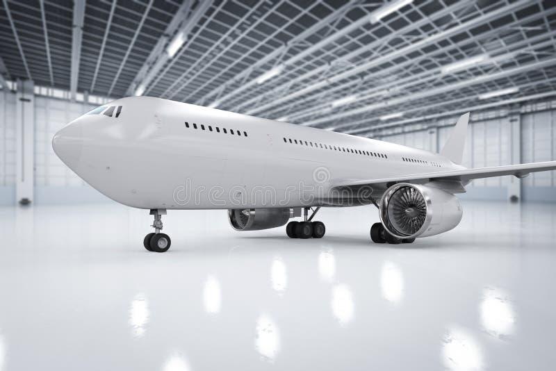 Avion dans le hangar photographie stock