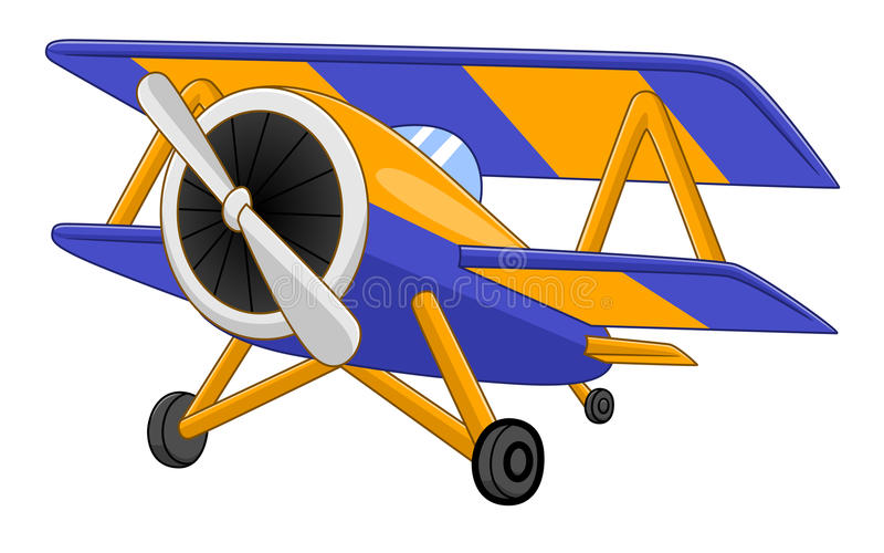 Avion de bande dessinée illustration de vecteur