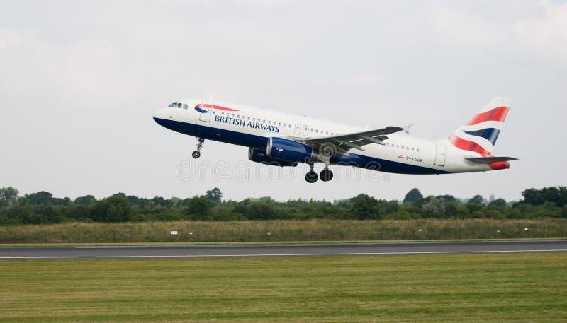 Avion de British Airways image libre de droits