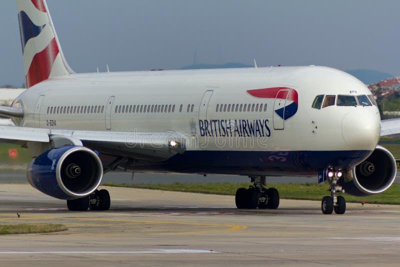 Avion de British Airways Boeing 767 images libres de droits