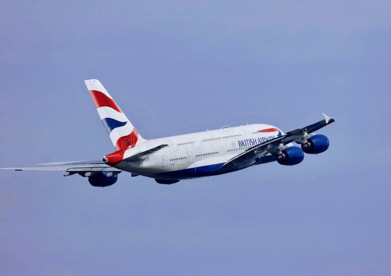 Avion de British airways photos stock