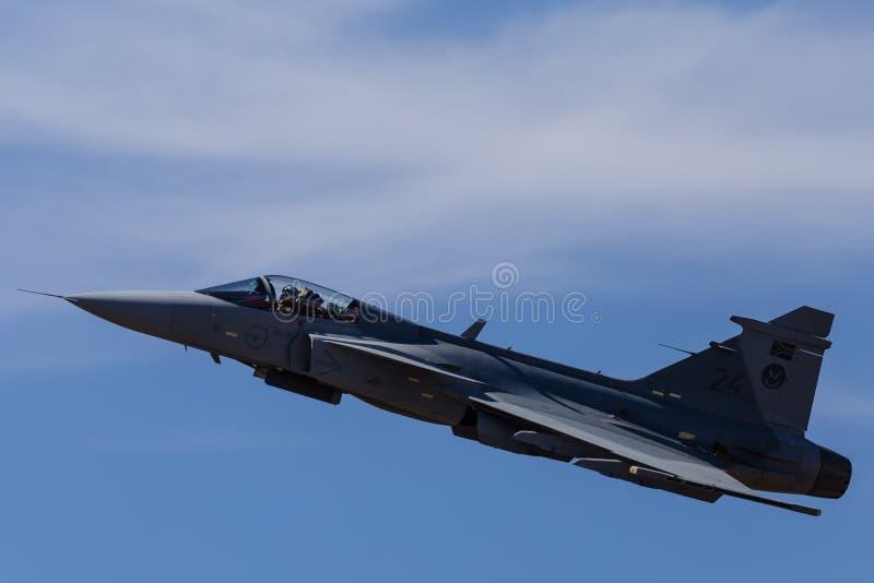 Avion de chasse de Gripen photo stock
