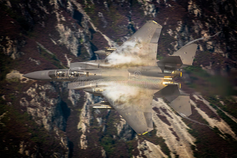 Avion de chasse de l'U.S. Air Force F15 photos libres de droits
