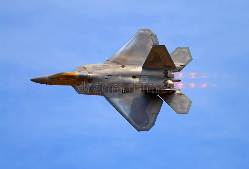 Avion de chasse du rapace F-22 photos libres de droits
