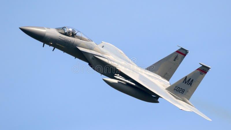 Avion de chasse de l'U.S. Air Force F-15 Eagle image libre de droits