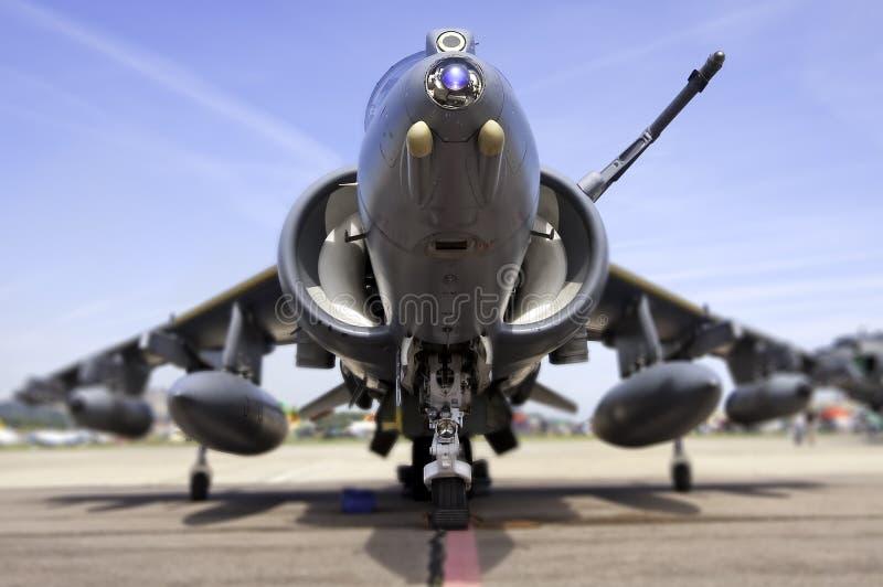 Avion de chasse moderne, profondeur de zone images libres de droits