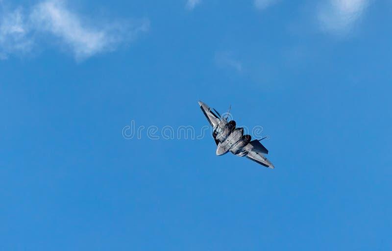 Avion de cinquième génération du combattant Su-57 Sukhoi T-50 PAK-FA photo libre de droits