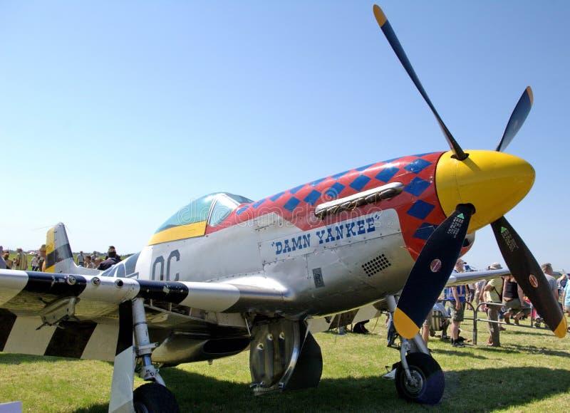 Avion de combat de mustang de WWII WW2   image libre de droits
