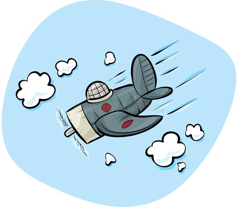 Avion de combat de plongée illustration libre de droits