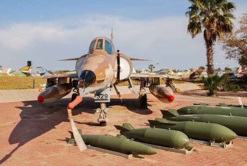Avion de combat polyvalent Kfir, fait par Israel Aircraft Industries images libres de droits
