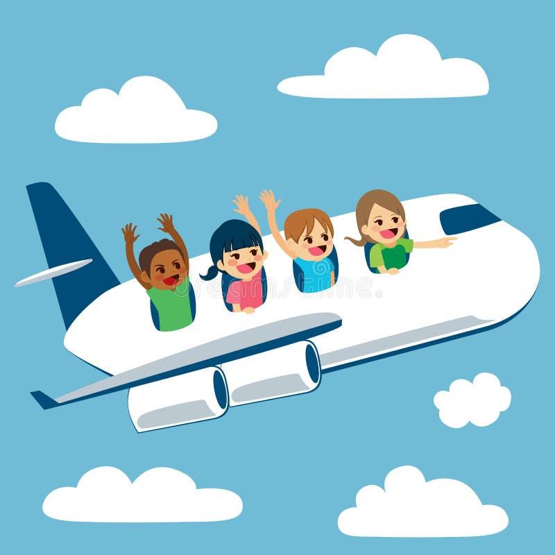 Avion de déplacement d'enfants illustration de vecteur