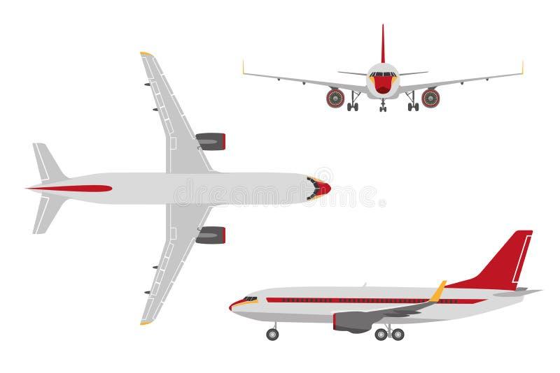 Avion de dessin dans un style plat sur un fond blanc vue - Dessin avion stylise ...